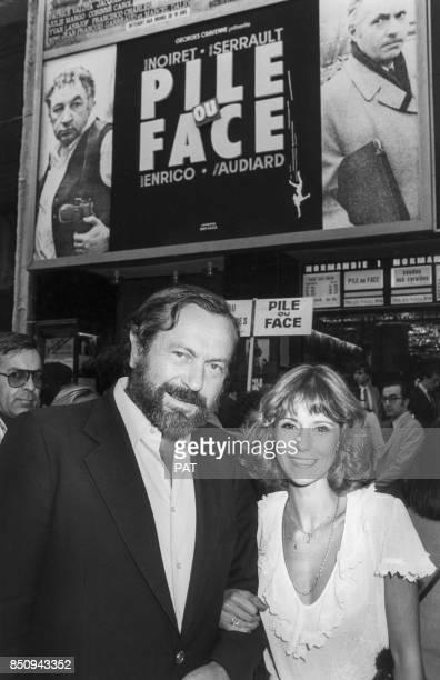 Dorothée lors de la première du film 'Pile ou Face' avec le réalisateur Robert Enrico le 13 août 1980 à Paris France