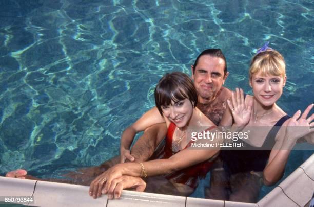 Dorothée Patrick SimpsonJones et Ariane Carletti en vacances le 17 juin 1988 à La Baule France