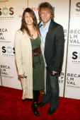 Dorothea and Jon Bon Jovi during Opening of The Tribeca Film Festival Premiere of 'SOS Short Film Program' Red Carpet Arrivals at BMCC Tribeca PAC at...