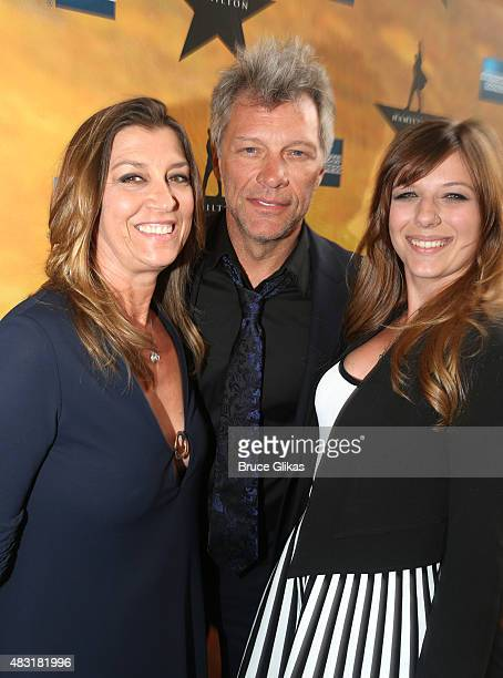 Dorothea Bon Jovi Jon Bon Jovi and Stephanie Bon Jovi attend 'Hamilton' Broadway opening night at Richard Rodgers Theatre on August 6 2015 in New...
