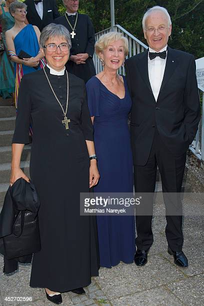Dorothea Greiner Edmund Stoiber and Karin Stoiber attend the Bayreuth Festival Opening 2014 on July 25 2014 in Bayreuth Germany