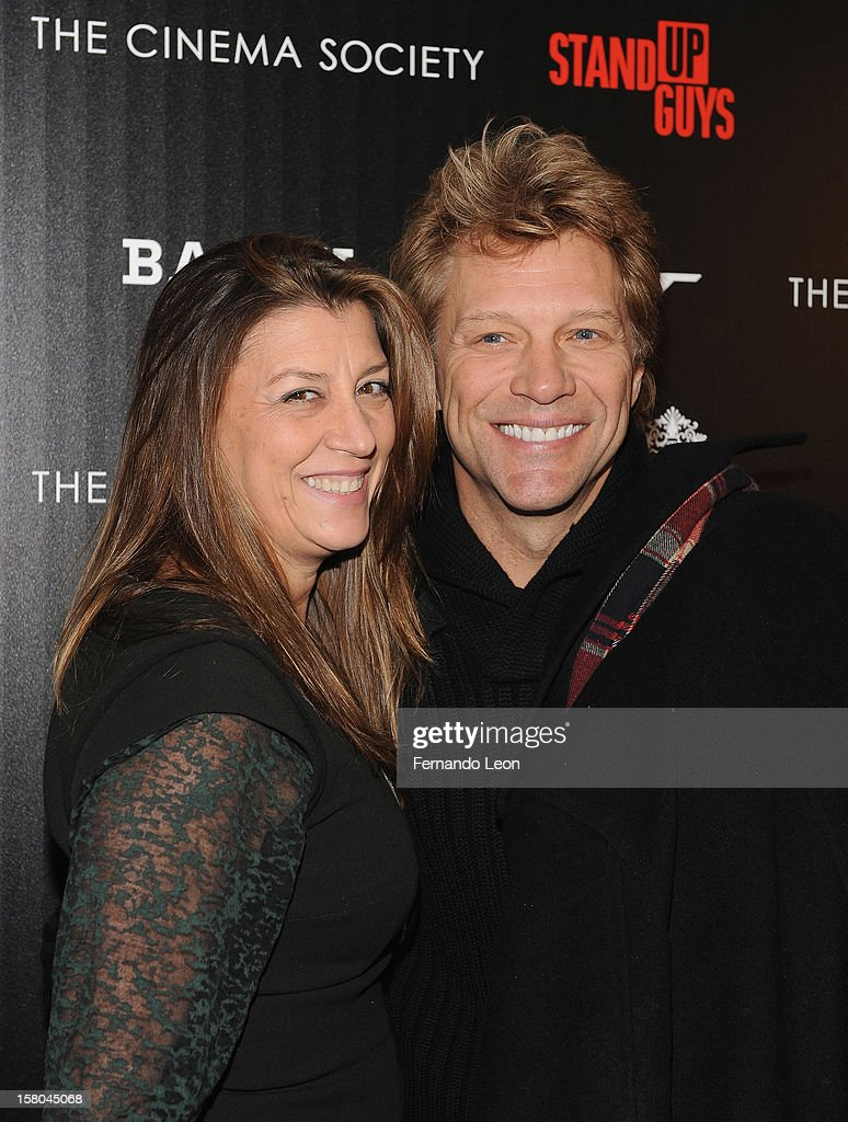 Dorothea Hurley and her husband musician <a gi-track='captionPersonalityLinkClicked' href=/galleries/search?phrase=Jon+Bon+Jovi&family=editorial&specificpeople=201527 ng-click='$event.stopPropagation()'>Jon Bon Jovi</a> (R) attend the premiere of 'Stand Up Guys' hosted by The Cinema Society with Chrysler and Bally at MOMA on December 9, 2012 in New York City.