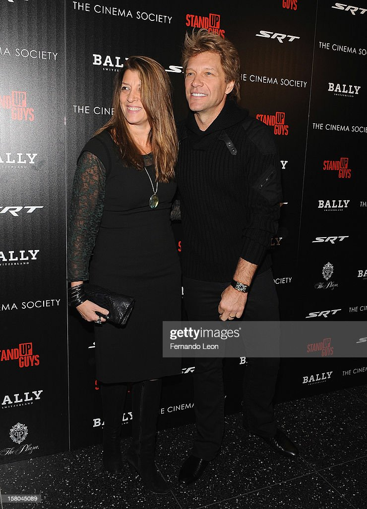 Dorothea Hurley and her husband musician Jon Bon Jovi (R) attend the premiere of 'Stand Up Guys' hosted by The Cinema Society with Chrysler and Bally at MOMA on December 9, 2012 in New York City.