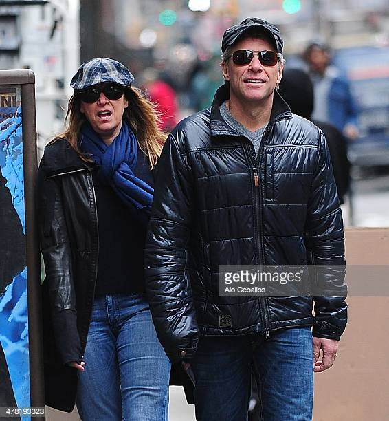 Dorothea Hurley and Jon Bon Jovi are seen in Soho on March 12 2014 in New York City