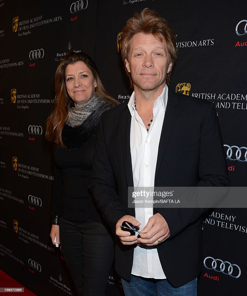Dorothea Hurley and Jon Bon Jovi arrive at the BAFTA Los Angeles 2013 Awards Season Tea Party held at the Four Seasons Hotel Los Angeles on January 12, 2013 in Los Angeles, California.