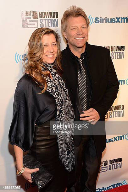 Dorothea Hurley and Jon Bon Jovi attend 'Howard Stern's Birthday Bash' presented by SiriusXM produced by Howard Stern Productions at Hammerstein...