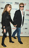 Dorothea Hurley and Jon Bon Jovi attend the Gold Meets Gold Event held at the Equinox Sports Club Flagship West Los Angeles location on Saturday...