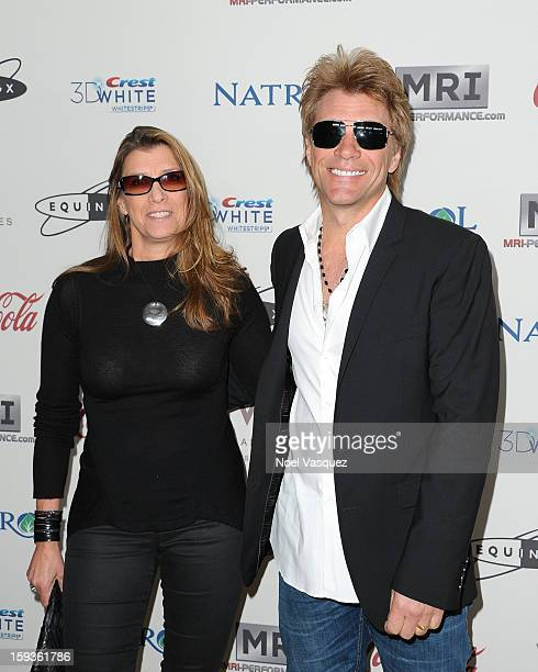 Dorothea Hurley and Jon Bon Jovi attend the 'Gold Meets Golden' event hosted at Equinox on January 12 2013 in Los Angeles California