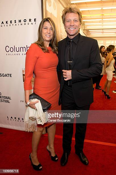 Dorothea Hurley and Jon Bon Jovi attend the 'Stand Up Guys' premiere during the opening night of the 48th Chicago International Film Festival at the...