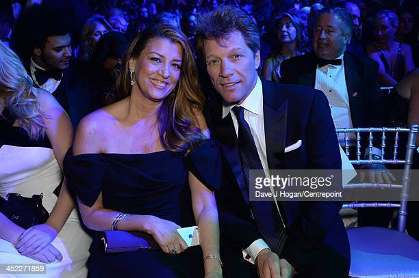 Dorothea Hurley and Jon Bon Jovi attend the Winter Whites Gala In Aid Of Centrepoint on November 26 2013 in London England