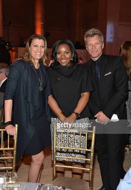 Dorothea Hurley Food Bank President and CEO Margarette Purvis and Jon Bon Jovi attend the Food Bank for New York City's Can Do awards dinner gala on...