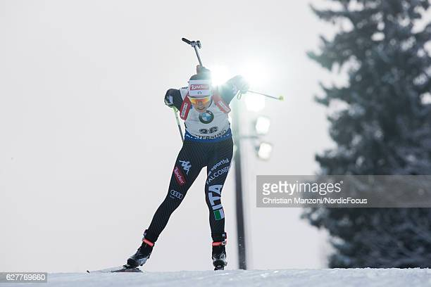 Dorothea Wierer of Italy competes during the 75 km women's sprint on December 3 2016 in Ostersund Sweden