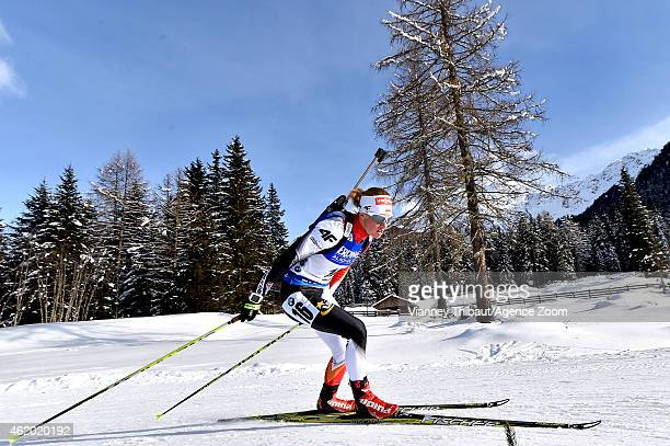 Dorothea Wierer of Italy competes during the IBU Biathlon World Cup Women's Sprint on January 23 2015 in AntholzAnterselva Italy