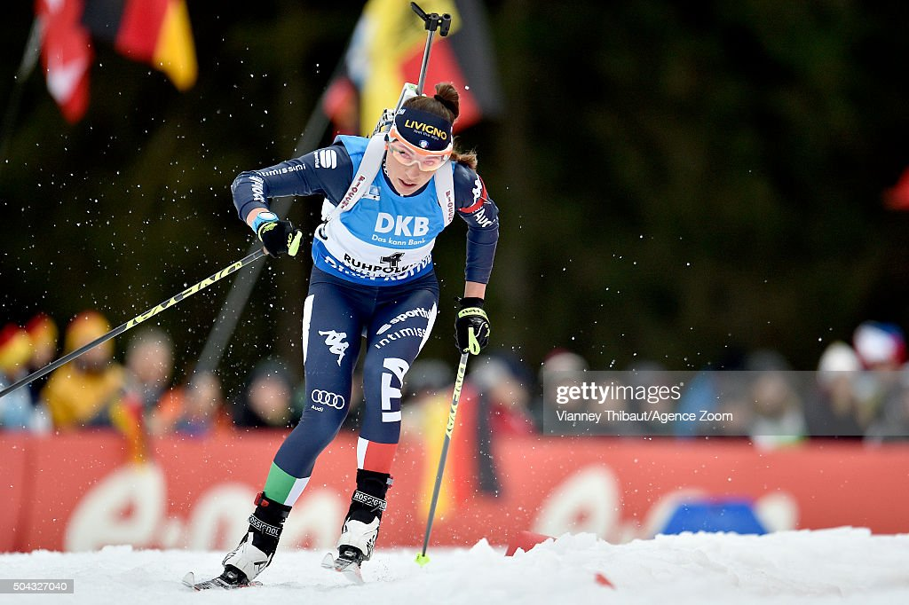<a gi-track='captionPersonalityLinkClicked' href=/galleries/search?phrase=Dorothea+Wierer&family=editorial&specificpeople=7438920 ng-click='$event.stopPropagation()'>Dorothea Wierer</a> of Italy competes during the IBU Biathlon World Cup Men's and Women's Mass Start on January 10, 2016 in Ruhpolding, Germany.