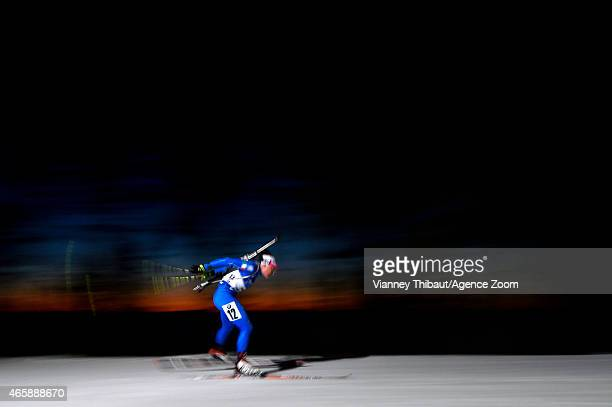 Dorothea Wierer of Italy competes during the IBU Biathlon World Championships Women's Individual on March 11 2015 in Kontiolahti Finland