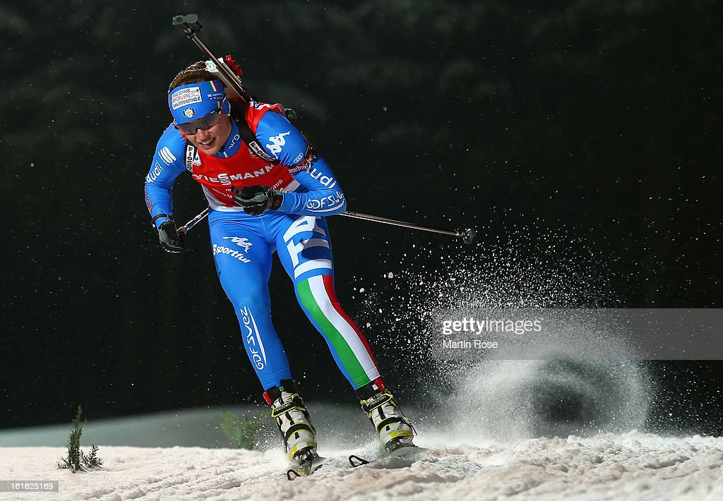 Dorothea Wierer of Italy competes in the Women's 15km Individual during the IBU Biathlon World Championships at Vysocina Arena on February 13, 2013 in Nove Mesto na Morave, Czech Republic.