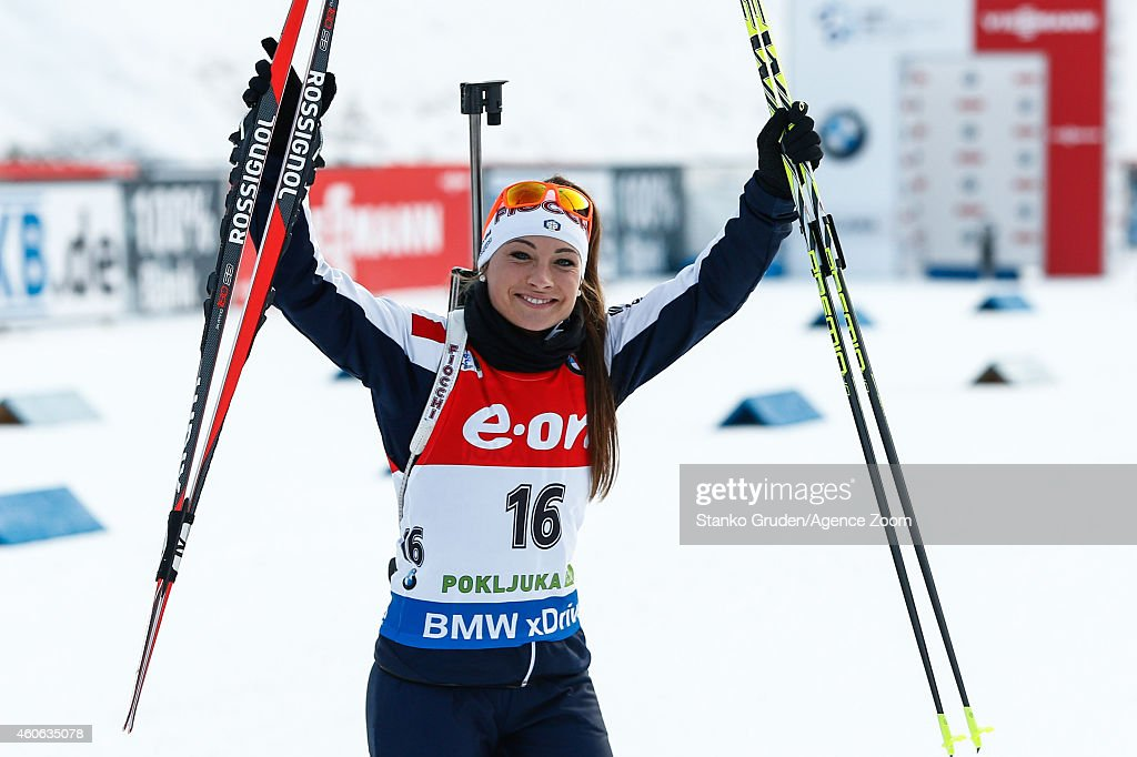 <a gi-track='captionPersonalityLinkClicked' href=/galleries/search?phrase=Dorothea+Wierer&family=editorial&specificpeople=7438920 ng-click='$event.stopPropagation()'>Dorothea Wierer</a> of Italy takes 2nd place during the IBU Biathlon World Cup Women's Sprint on December 18, 2014 in Pokljuka, Slovenia.