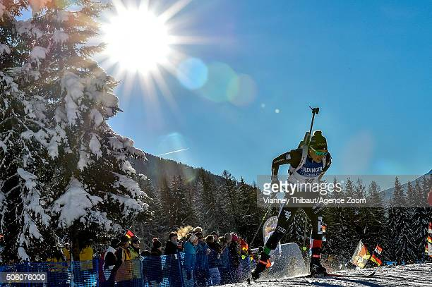 Dorothea Wierer of Italy takes 2nd place during the IBU Biathlon World Cup Women's Sprint on January 21 2016 in AntholzAnterselva Italy
