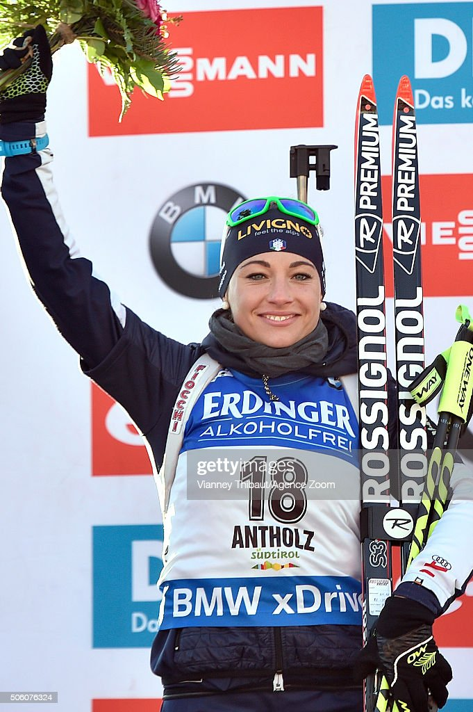 <a gi-track='captionPersonalityLinkClicked' href=/galleries/search?phrase=Dorothea+Wierer&family=editorial&specificpeople=7438920 ng-click='$event.stopPropagation()'>Dorothea Wierer</a> of Italy takes 2nd place during the IBU Biathlon World Cup Women's Sprint on January 21, 2016 in Antholz-Anterselva, Italy.