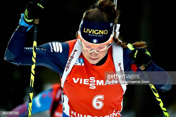 Dorothea Wierer of Italy takes 3rd place during the IBU Biathlon World Cup Men's and Women's Pursuit on January 9 2016 in Ruhpolding Germany