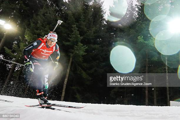 Dorothea Wierer of Italy takes 3rd place during the IBU Biathlon World Cup Men's and Women's Mass Start on December 18 2016 in Nove Mesto na Morave...