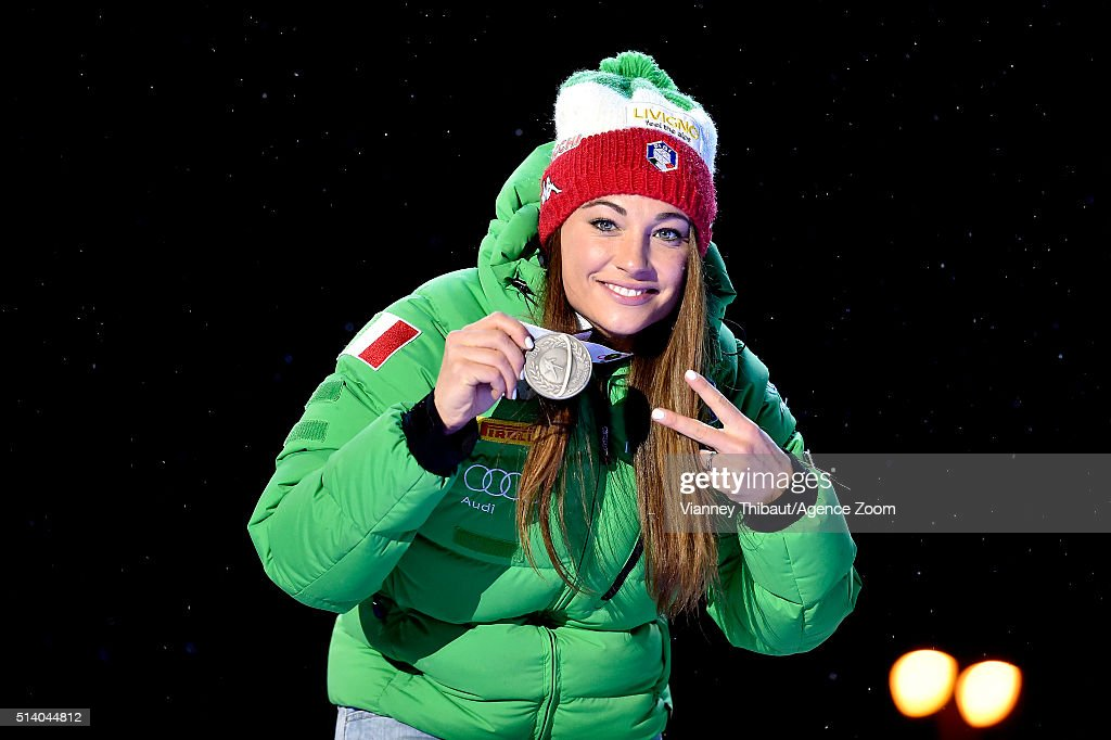<a gi-track='captionPersonalityLinkClicked' href=/galleries/search?phrase=Dorothea+Wierer&family=editorial&specificpeople=7438920 ng-click='$event.stopPropagation()'>Dorothea Wierer</a> of Italy wins the silver medal during the IBU Biathlon World Championships Men's and Women's Pursuit on March 6, 2016 in Oslo, Norway.