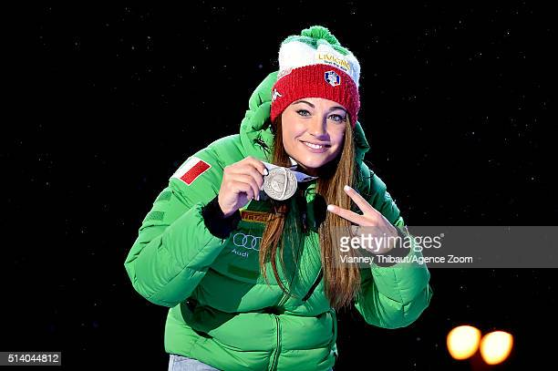Dorothea Wierer of Italy wins the silver medal during the IBU Biathlon World Championships Men's and Women's Pursuit on March 6 2016 in Oslo Norway