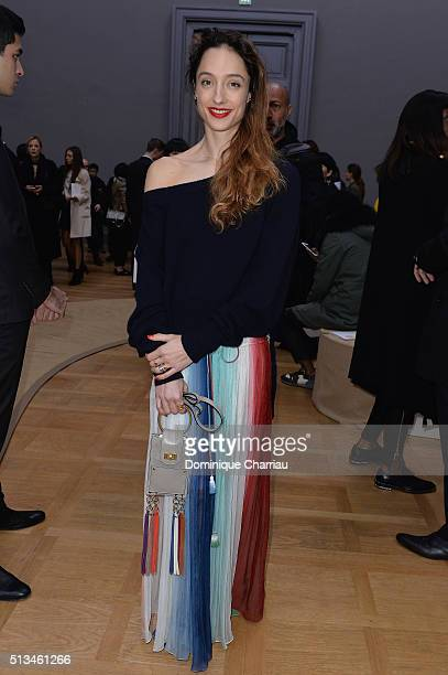 Dorothee Gilbert attends the Chloe show as part of the Paris Fashion Week Womenswear Fall/Winter 2016/2017 on March 3 2016 in Paris France