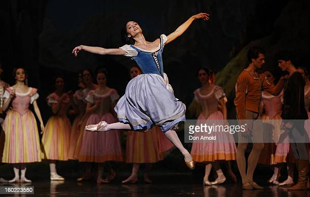 Dorothee Gilbert plays the role of Giselle during the Paris Opera Ballet production of Giselle at the Capitol Theatre on January 28 2013 in Sydney...