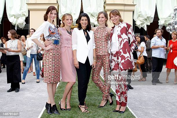 Dorothee Schumacher and Models attend the Schumacher Store Opening on July 19 2012 in Munich Germany