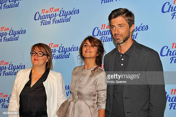 Dorothee Sebbagh Geraldine Nakache and Kim Rossi Stuart attend Day 7 of the Champs Elysees Film Festival on June 17 2014 in Paris France
