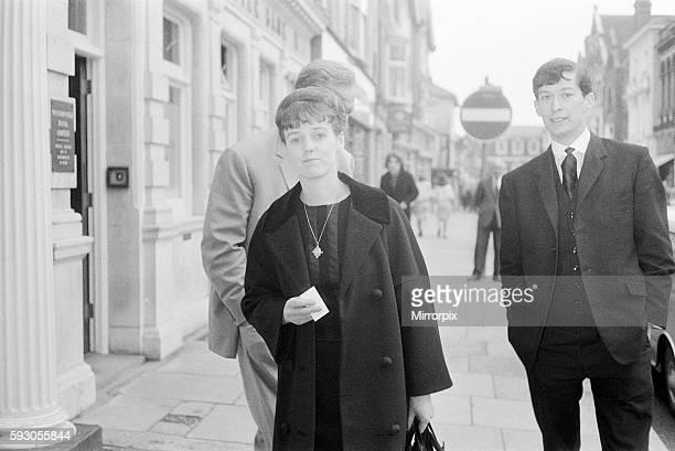 Dorothy Calvert widow of Reg Calvert pictured arriving at Assize Court in Chelmsford Essex 20th July 196 It was alleged that Mr Calvert was shot and...