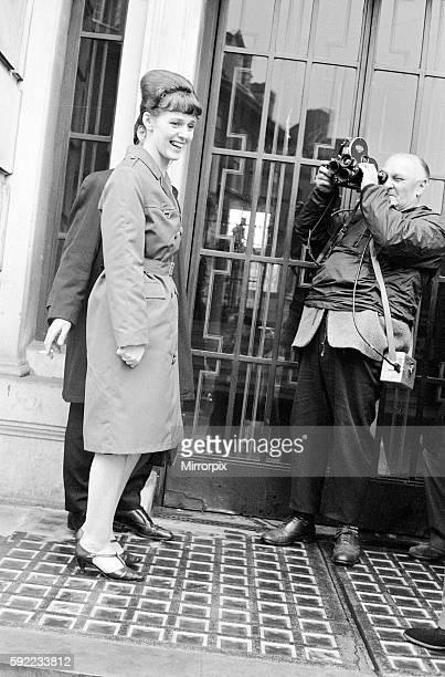 Dorothy Calvert widow of Reg Calvert pictured arriving at Inquest being held in Chelmsford Essex 27th June 1966 It was alleged that Mr Calvert was...