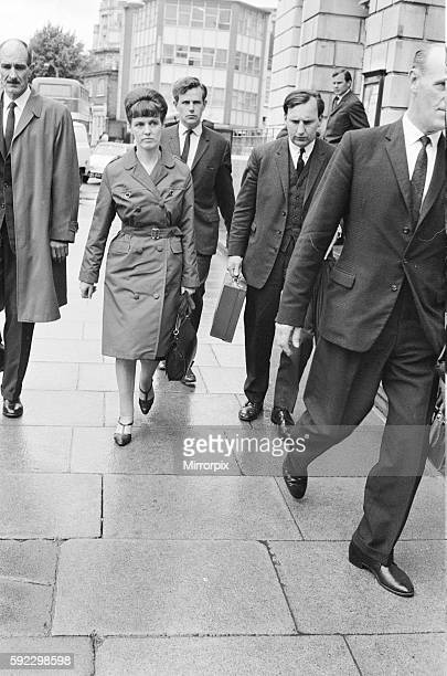 Dorothy Calvert widow of Reg Calvert pictured arriving at Inquest being held in Chelmsford Essex 27th June 1966 Also pictured John Wileman It was...
