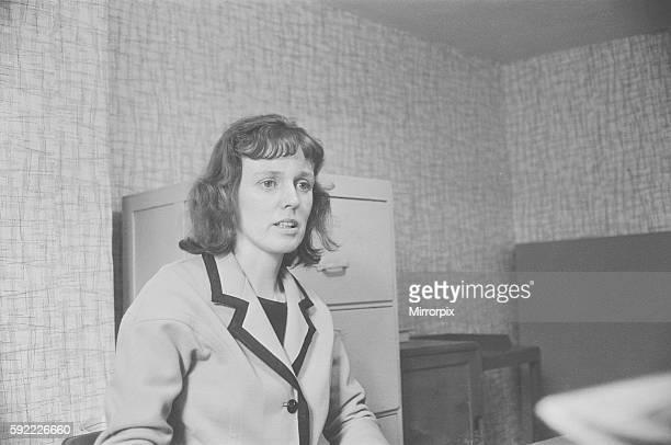 Dorothy Calvert widow of Reg Calvert pictured at London offices of pirate radio station Radio City 23rd June 1966 Reg Calvert Murder Case 1966 It was...