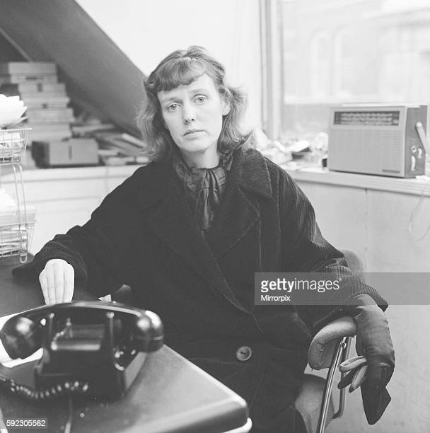 Dorothy Calvert widow of Reg Calvert pictured in London offices of Radio City 23rd June 1966 It was alleged that her husband Mr Calvert was shot and...