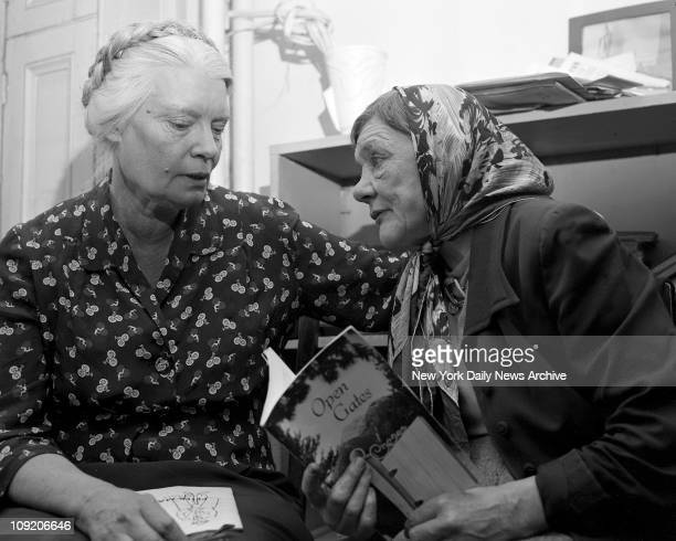 Dorothy Day speaks with Veronica Kane one of the residents at House of Hospitality