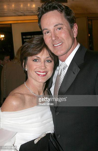 Dorothy Hamill and Davis Gaines during 'Phantom of the Opera' Becomes the LongestRunning Show on Broadway at The Majestic Theatre in New York City...