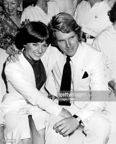 Dorothy Hamill and Dean Paul Martin at Studio 54 circa 1979 in New York City