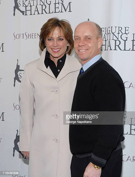 Dorothy Hamill and Scott Hamilton at the 2007 Skating with the Stars Under the Stars at the Wollman Ring Central Park New York City