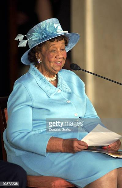 Dorothy Height during the Gold Medal Ceremony in the US Capitol Rotunda