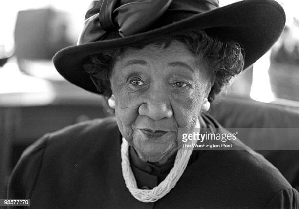 Dorothy Height in her office at the National Council of Negro Women Headquarters 6th Pa NW on December 3 1997 in Washington DC She has been president...
