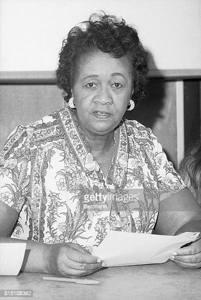 Dorothy Height President of the National Council of Negro Women is shown in this closeup photograph