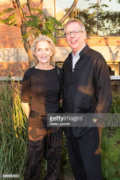 Dorothy Lichtenstein and Guest attend the Anual Fundraising Event at Diller von Furstenberg Sundeck on September 16 2015 in New York City