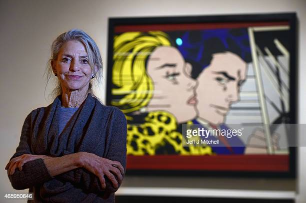 Dorothy Lichtenstein attends a new exhibition devoted to her late husband American Pop artist Roy Lichtenstein which being held at the Scottish...