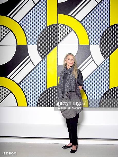 Dorothy Lichtenstein widow of Artist Roy Lichtenstein poses on June 29 2013 in Paris France
