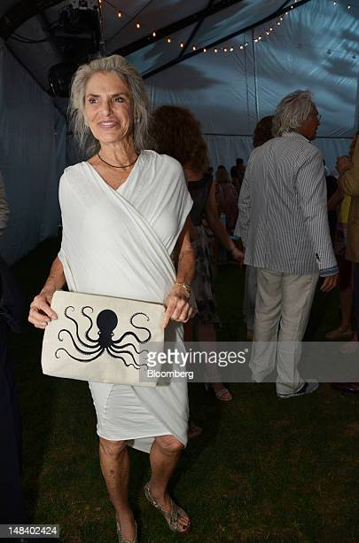 Dorothy Lichtenstein widow of artist Roy Lichtenstein stands for a photograph during the Parrish Art Museum gala in Southampton New York US on...