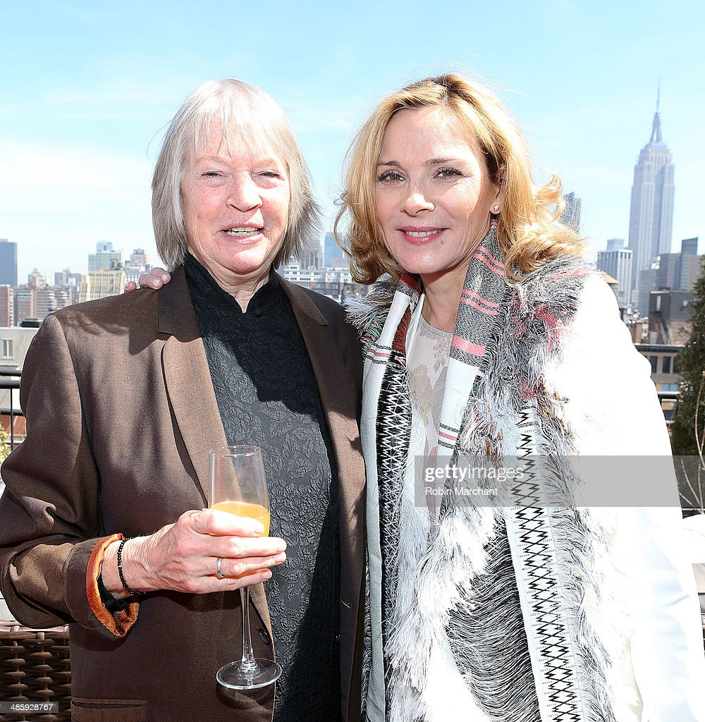 Dorothy Lyman (L) and <a gi-track='captionPersonalityLinkClicked' href=/galleries/search?phrase=Kim+Cattrall&family=editorial&specificpeople=202214 ng-click='$event.stopPropagation()'>Kim Cattrall</a> attend Women's Film Brunch at Company 3 on April 21, 2014 in New York City.