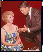 Dorothy Malone and Ed Nelson stars of the TV series Peyton Place a popular 1960's evening soap opera The show aired from 19641969