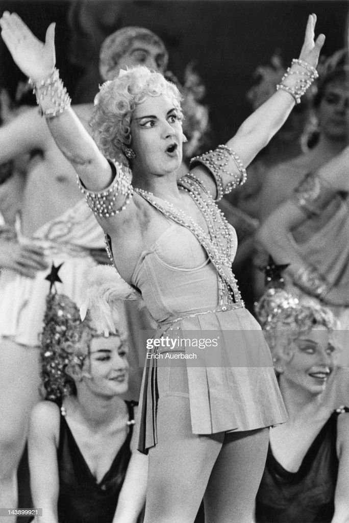 Dorothy Nash as Cupid in the Sadler's Wells production of Offenbach's opera 'Orpheus in the Underworld' London 19th April 1962